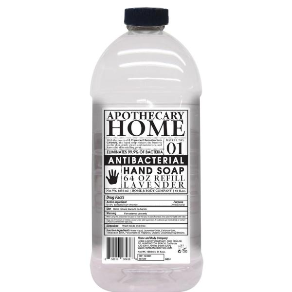 64 oz. Apothecary Home Antibacterial Hand Soap Refill Lavender