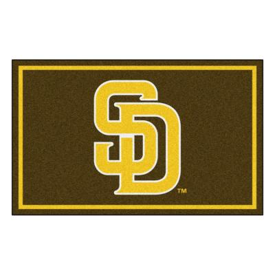 MLB - San Diego Padres 4 ft. x 6 ft. Ultra Plush Area Rug