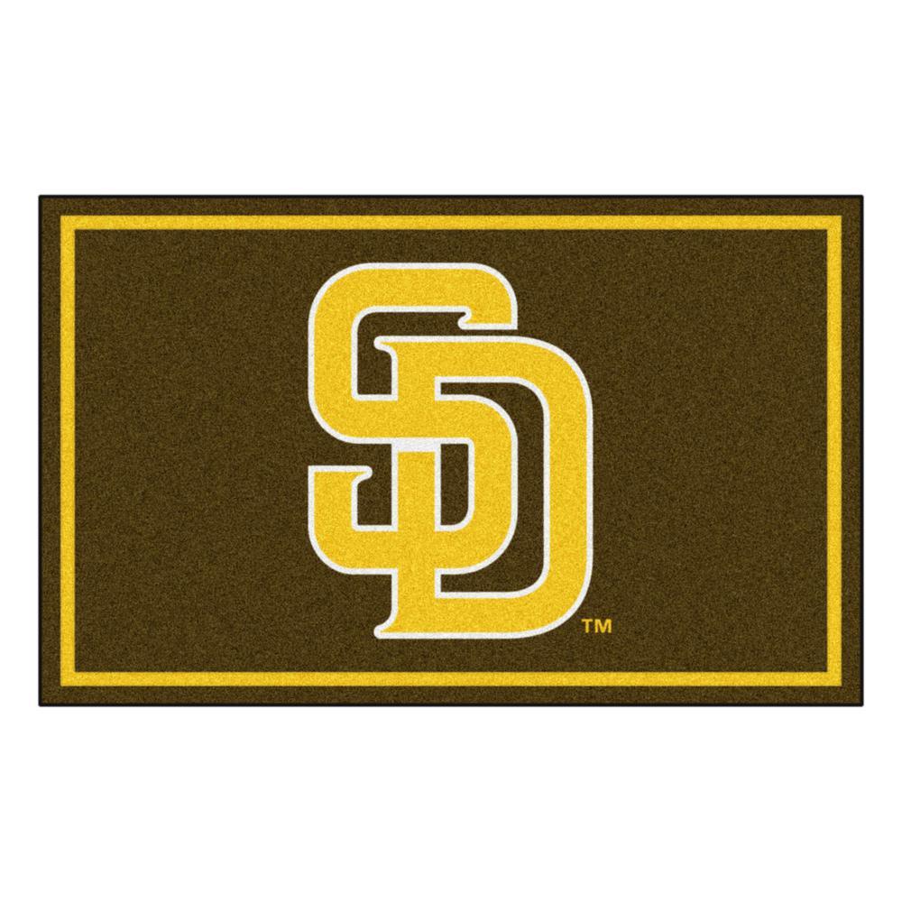FANMATS MLB Oakland Athletics Nylon Face 4X6 Plush Rug