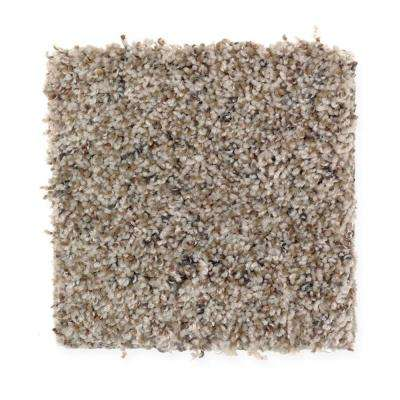 Carpet Sample - Timberwolf I - Color Seashell Texture 8 in. x 8 in.