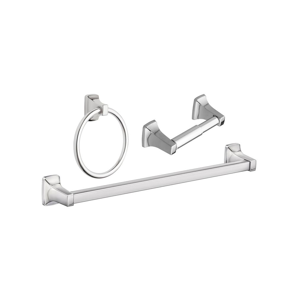 Unbranded Adler 4-Piece Bath Hardware Set with Adjustable 4 - 4 in. Towel  Bar in Chrome-YB0194CH - The Home Depot