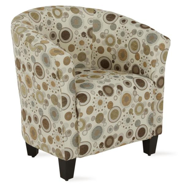 Dorel Living Markson Abstract Circular Pattern Upholstered Accent Chair FH8460-P1