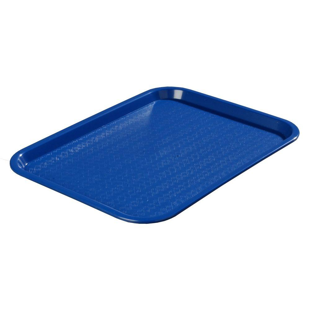 12 in. x 16 in. Polypropylene Serving/Food Court Tray in Blue