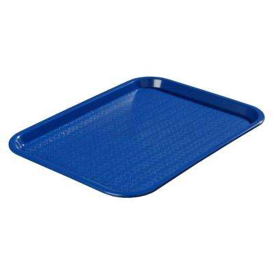 12 in. x 16 in. Polypropylene Serving/Food Court Tray in Blue (Case of 24)