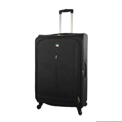 Tena 28 in. Black Soft Side Spinner Suitcase