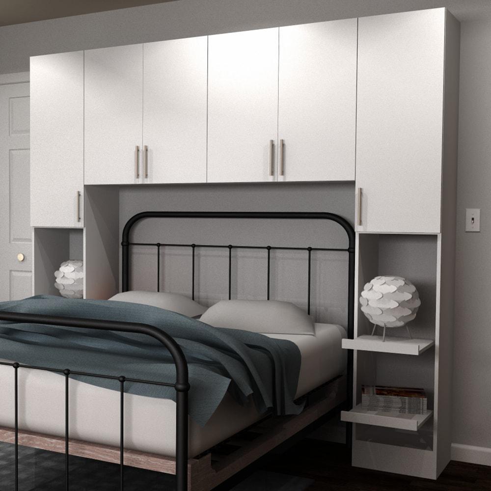 Horizon 1-Piece White Full Bedroom Kit