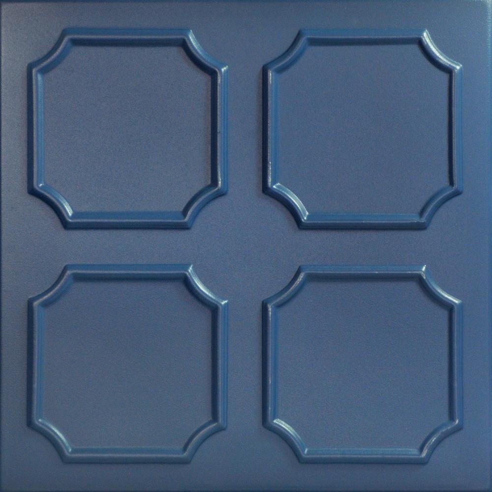 Bostonian 1.6 ft. x 1.6 ft. Foam Glue-up Ceiling Tile in Van Deusen Blue