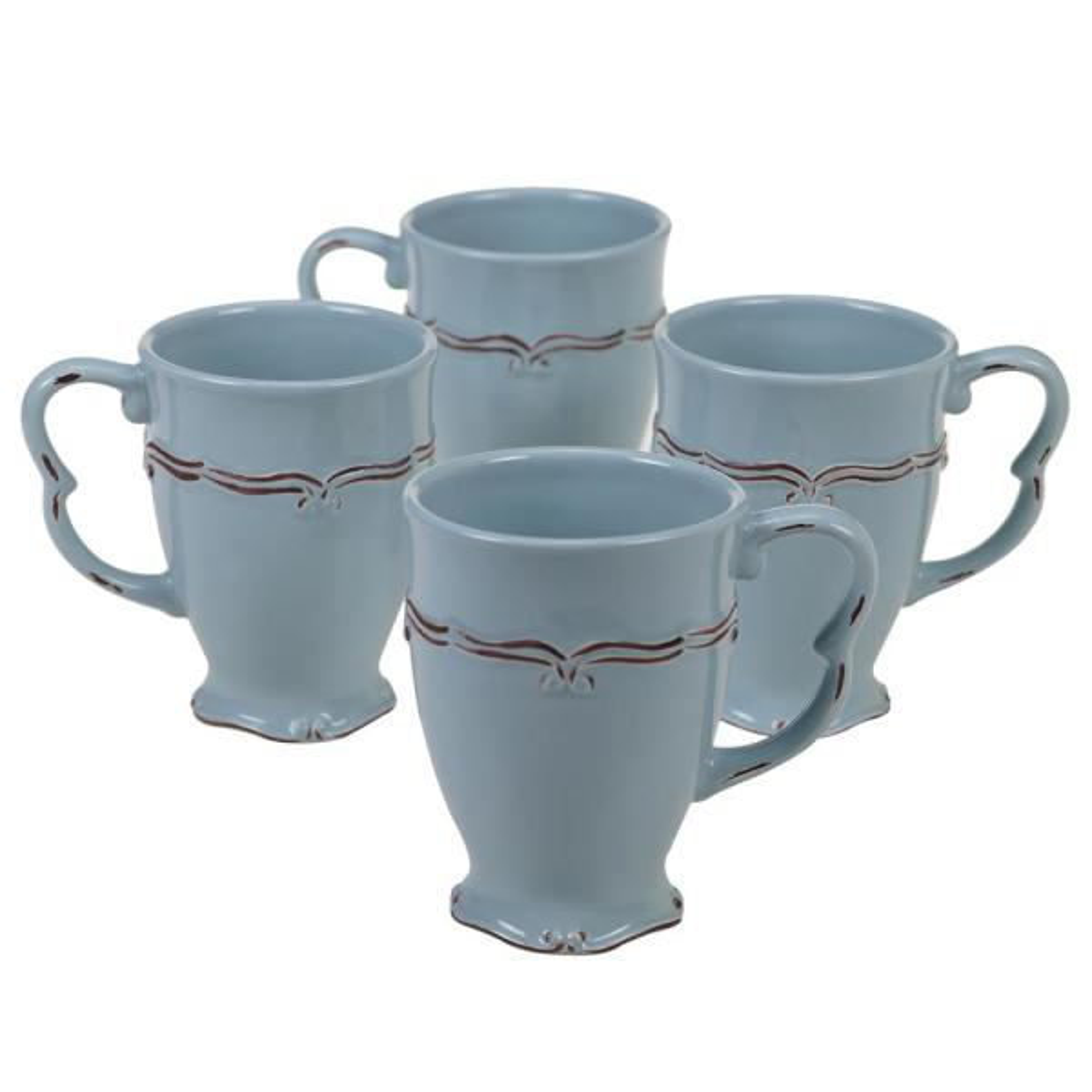 Certified International Vintage 20 oz. Blue Mug (Set of 4) 22352SET4