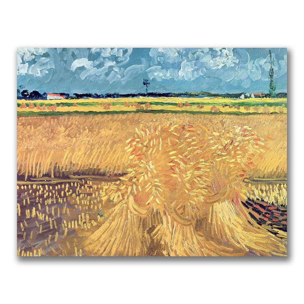 Trademark Fine Art 24 in. x 32 in. Wheatfield with Sheaves, 1888 Canvas Art