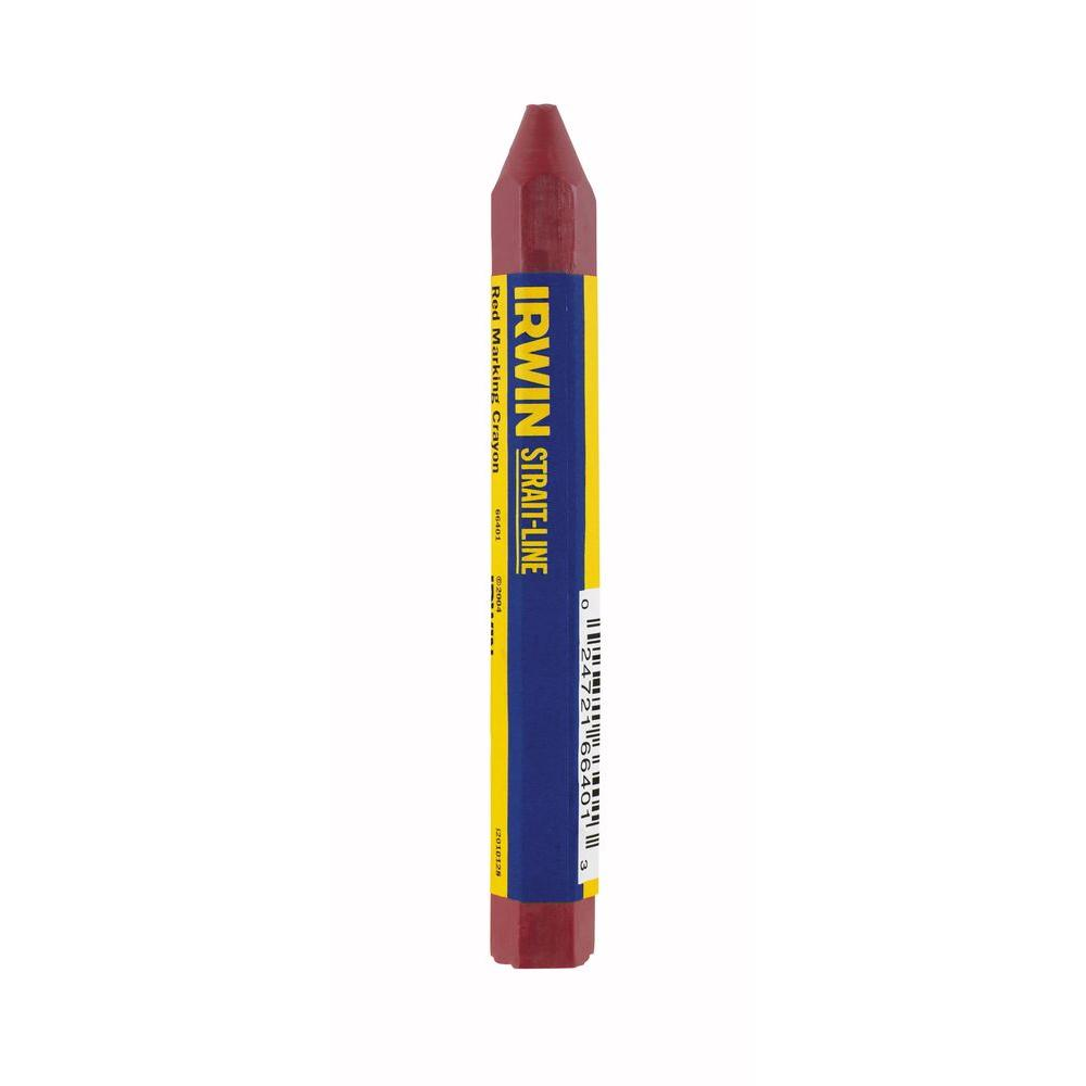 Strait-Line Red Crayon (2-Pack)