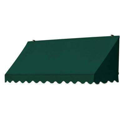 6 ft. Traditional Manually Retractable Awning (26.5 in. Projection) in Forest Green