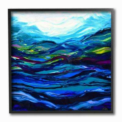 "12 in. x 12 in. ""Acrylic Resin Waves Under Water Ripples Abstract"" by Barbara Bilotta Framed Wall Art"