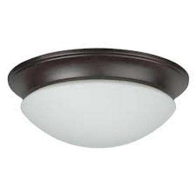 Streight 2-Light Oil Rubbed Bronze Flush Mount