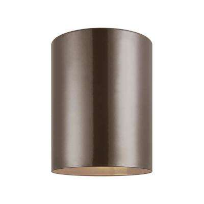 Outdoor Cylinders Bronze Integrated LED Outdoor Wall Lantern
