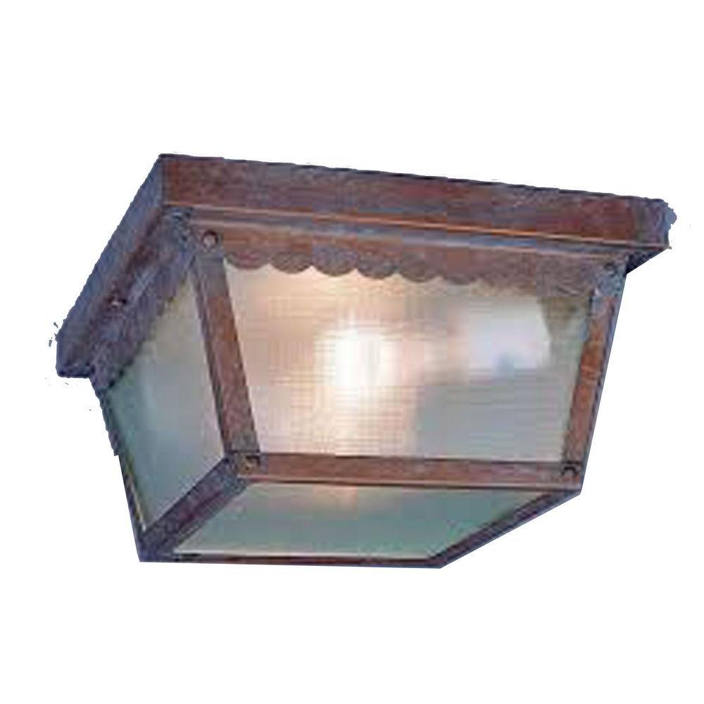 Lenor 1-Light Prairie Rock Fluorescent Ceiling Semi-Flush Mount Light