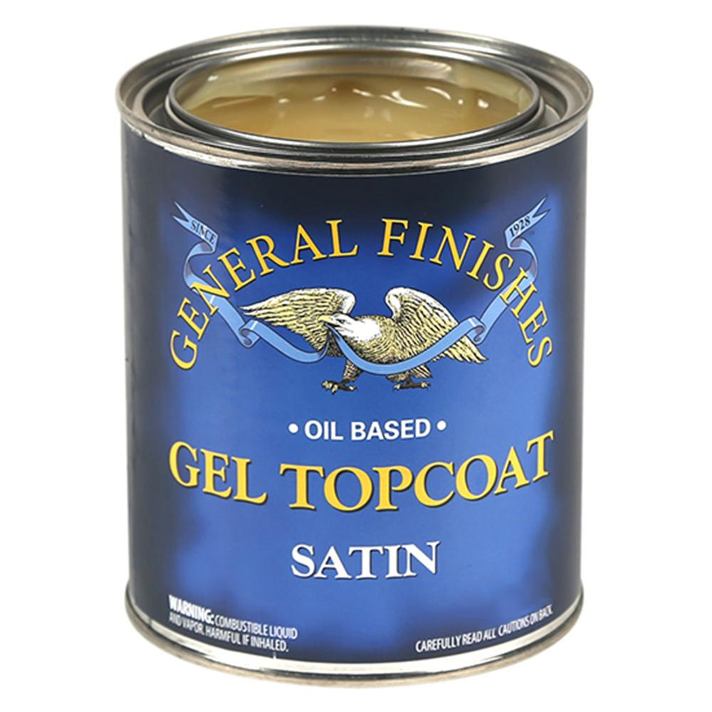 General Finishes 1-qt. Satin Oil-Based Urethane Gel Interior Topcoat