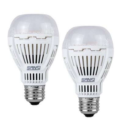 60-Watt Equivalent A19 800 Lumens Dusk to Dawn Automatic On/Off LED Light Bulb Daylight in 5000K with Photocell (2-Pack)