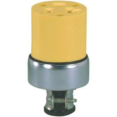 20 Amp 125-Volt 5-20 Commercial Grade Vinyl Armored Connector