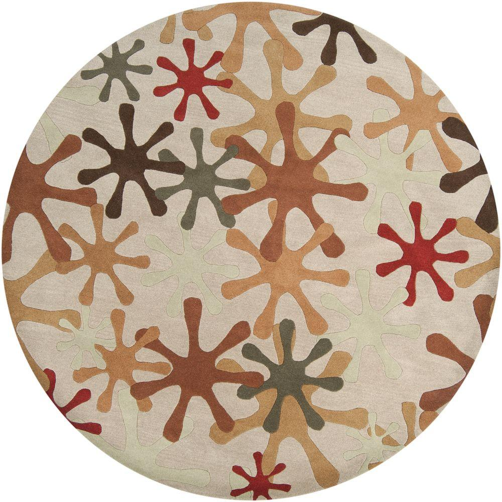 Artistic Weavers Sarah Off White 8 Ft. X 8 Ft. Round Area Rug