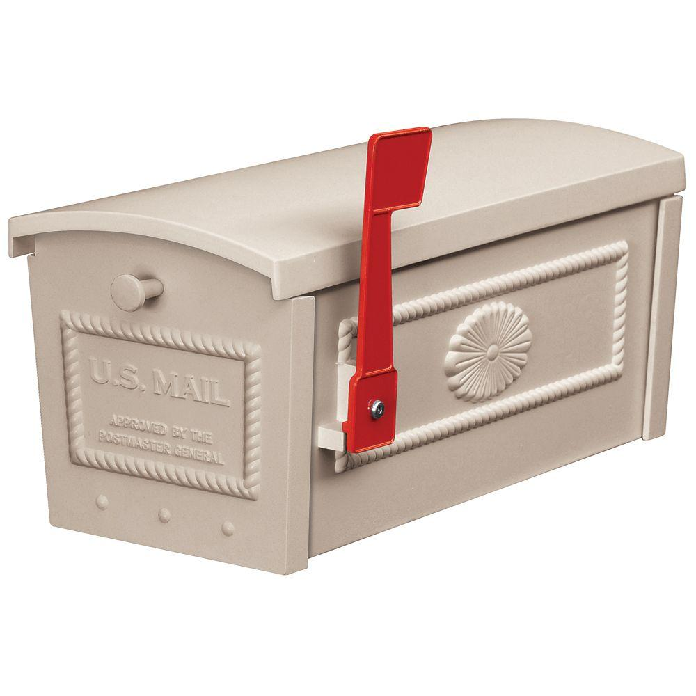 Salsbury Industries 4500 Series Post Style Townhouse Mailbox in Beige