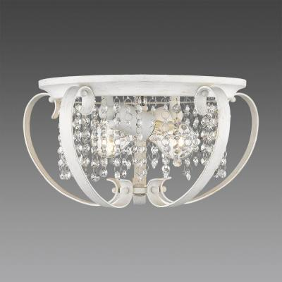 Ella 2-Light French White Flush Mount Light