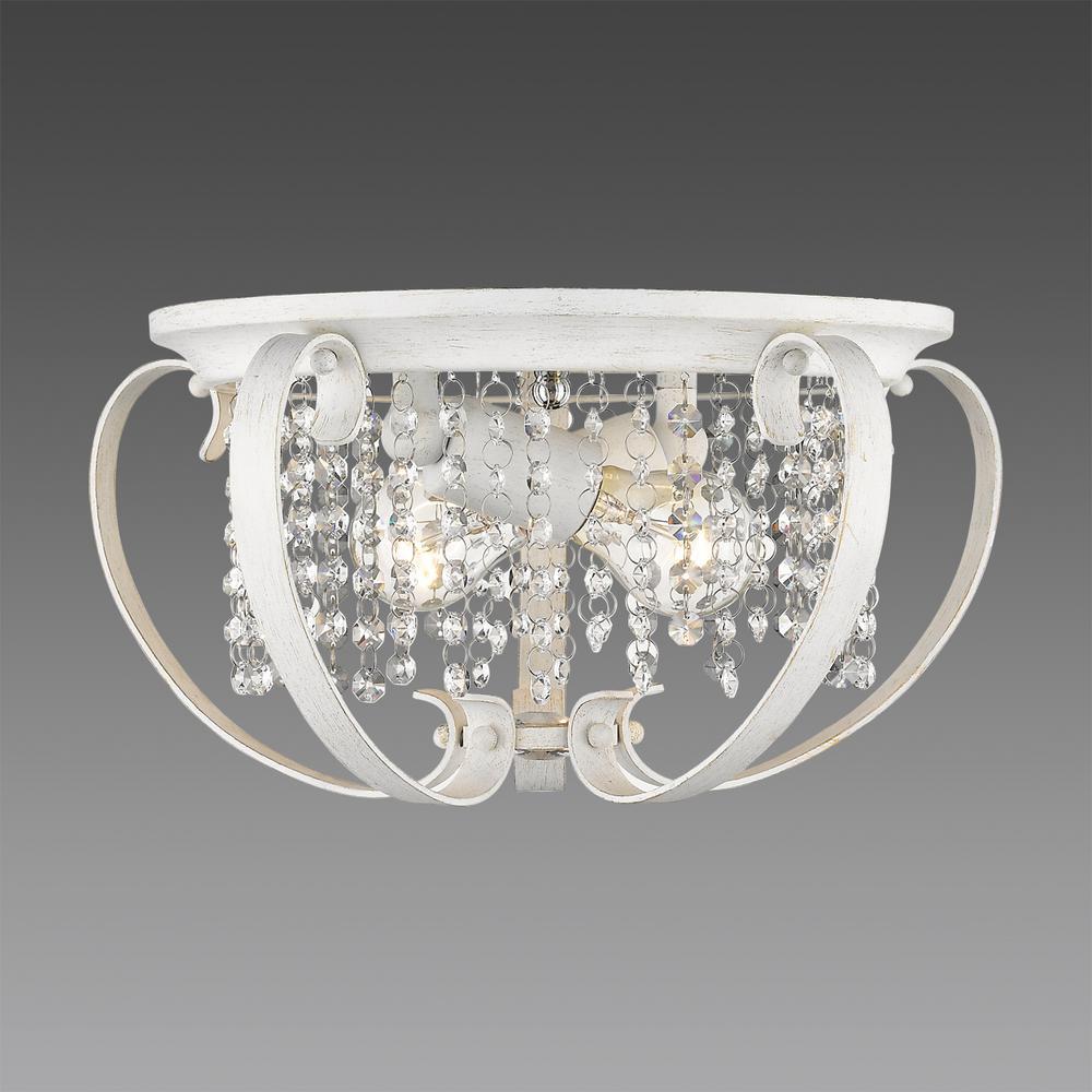 Ella 2-Light French White Flushmount Light