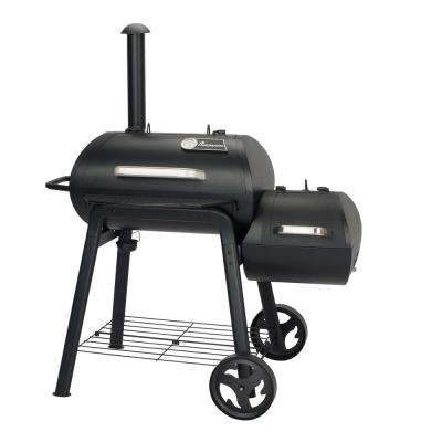 Vinson 200 Charcoal/Wood Grill Smoker in Black