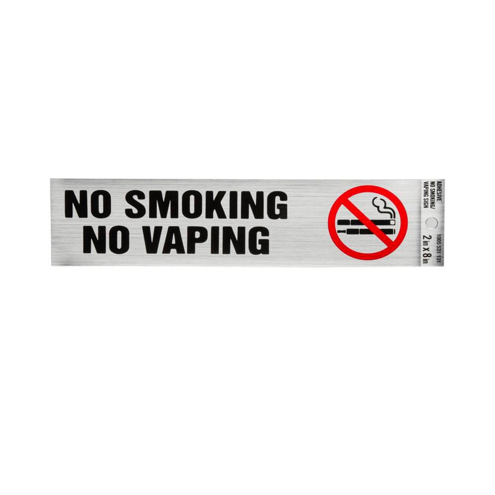 x 7 in Everbilt 5 in Plastic No Smoking Sign