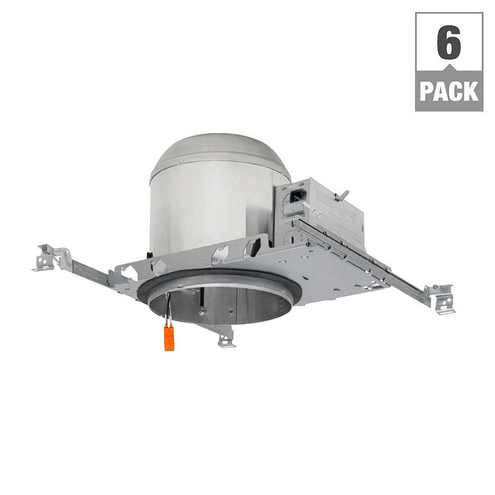6 in. LED Recessed Housing New Construction Can (6-Pack)