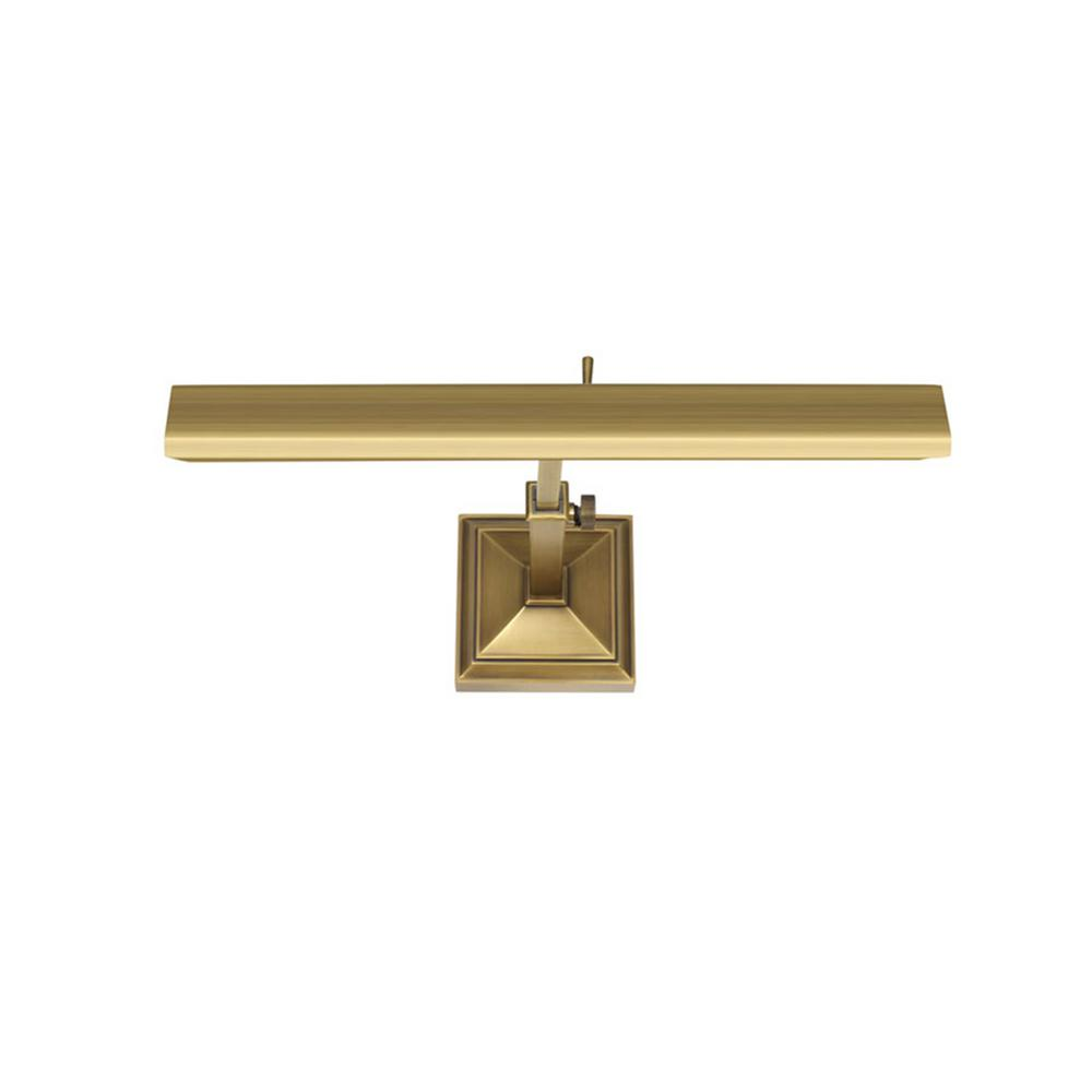 Hemmingway 14 in. Burnished Brass LED Adjustable Picture Light, 2700K