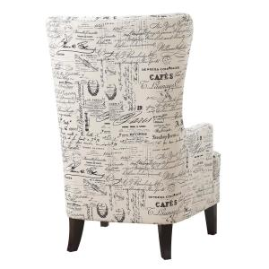 Phenomenal Kegan French Script Accent Chair Ukr636100 The Home Depot Ibusinesslaw Wood Chair Design Ideas Ibusinesslaworg