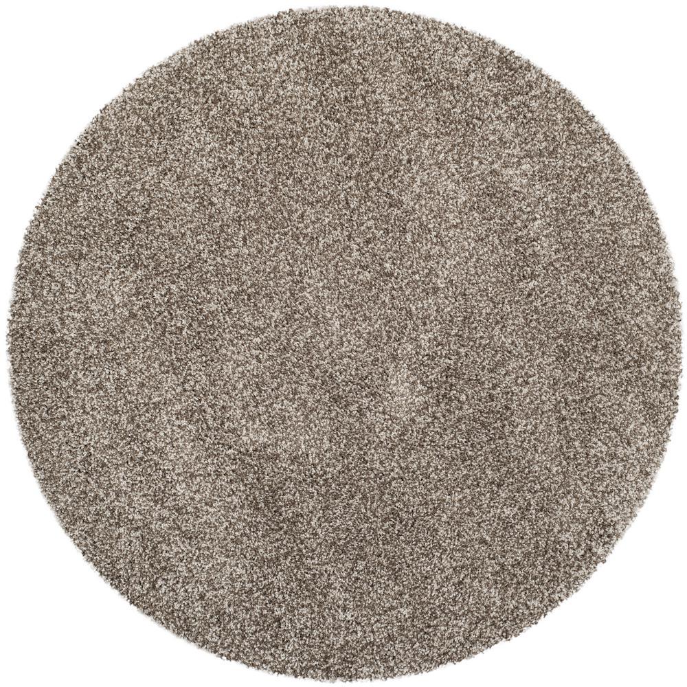 Safavieh Milan Shag Gray 3 Ft X Round Area Rug