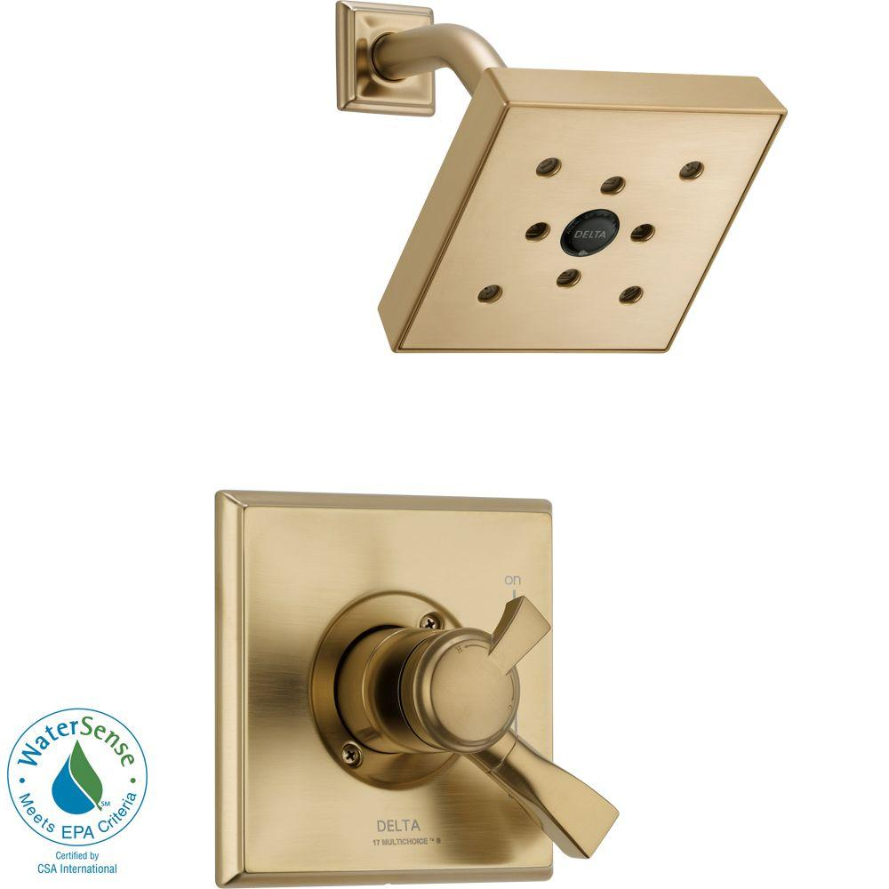 Dryden 1-Handle H2Okinetic Shower Only Faucet Trim Kit in Champagne Bronze