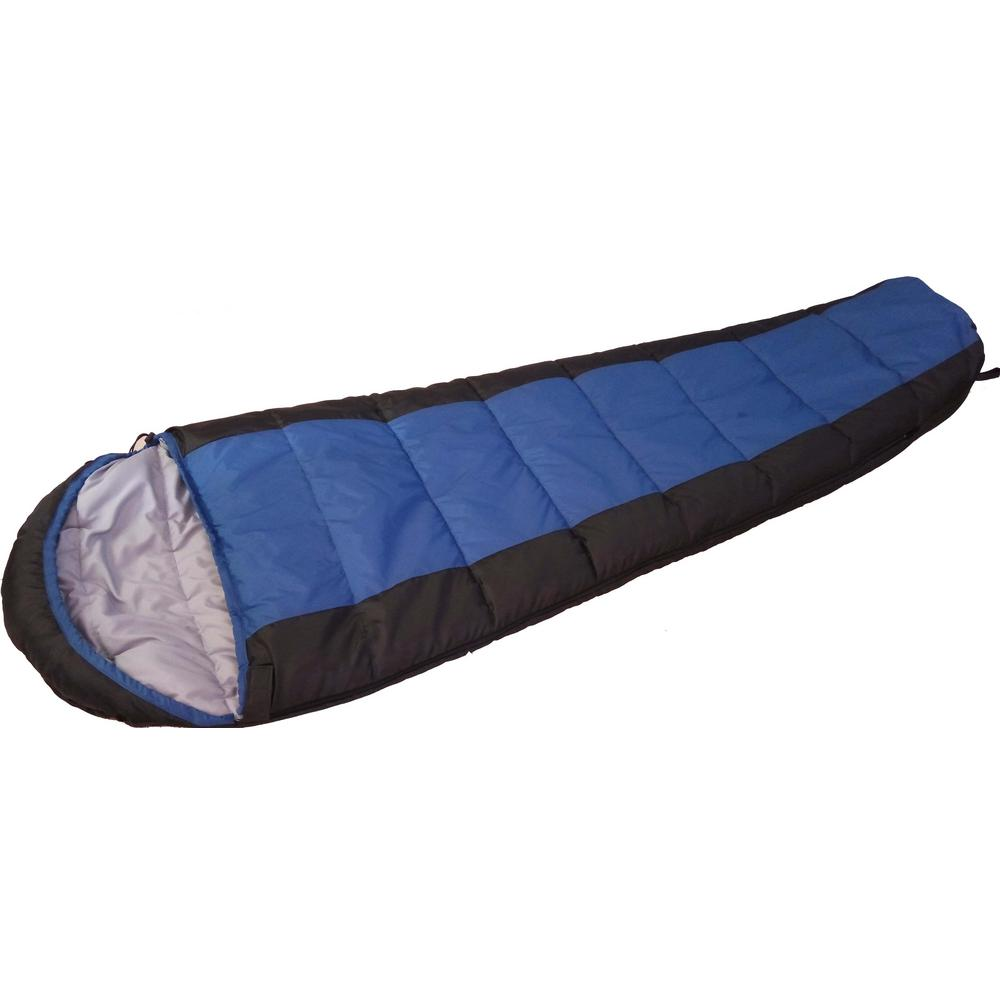 Proht Ultra Warm Filling Double Layer Mummy Sleeping Bag In Royal Blue 04054 The Home Depot