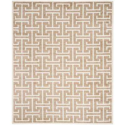 Amherst Wheat/Beige 9 ft. x 12 ft. Indoor/Outdoor Area Rug