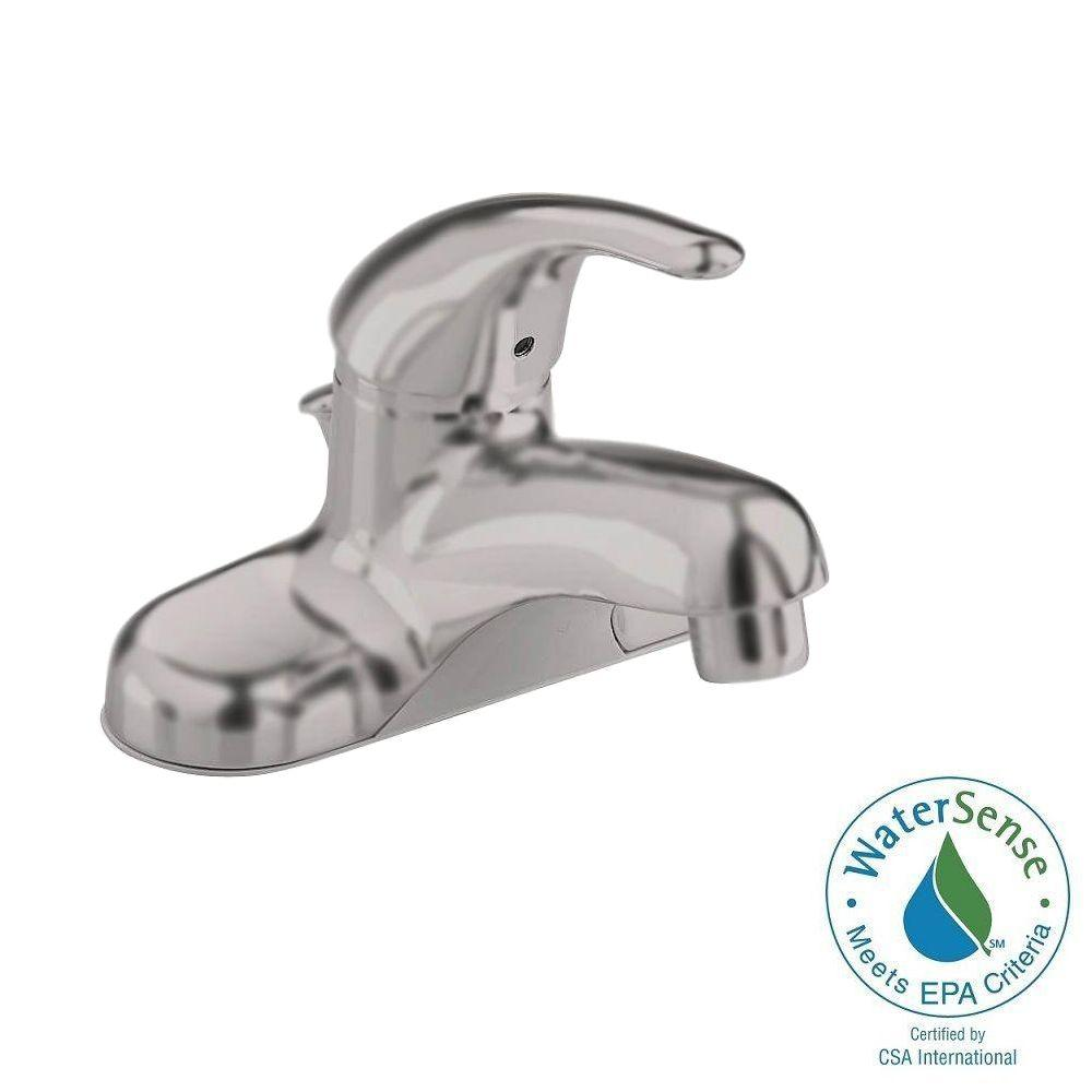 Colony Soft 4 in. Centerset Single Handle Bathroom Faucet in Brushed