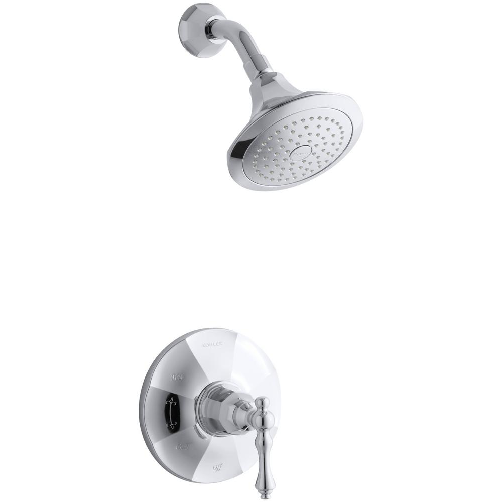 KOHLER Kelston 1-Spray 6.5 in. 2.5 GPM Fixed Showerhead in Polished Chrome