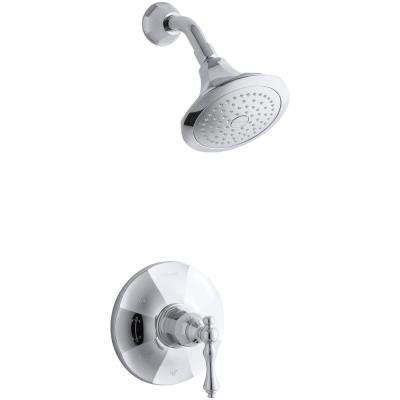 Kelston 1-Spray 6.5 in. 2.5 GPM Fixed Showerhead in Polished Chrome