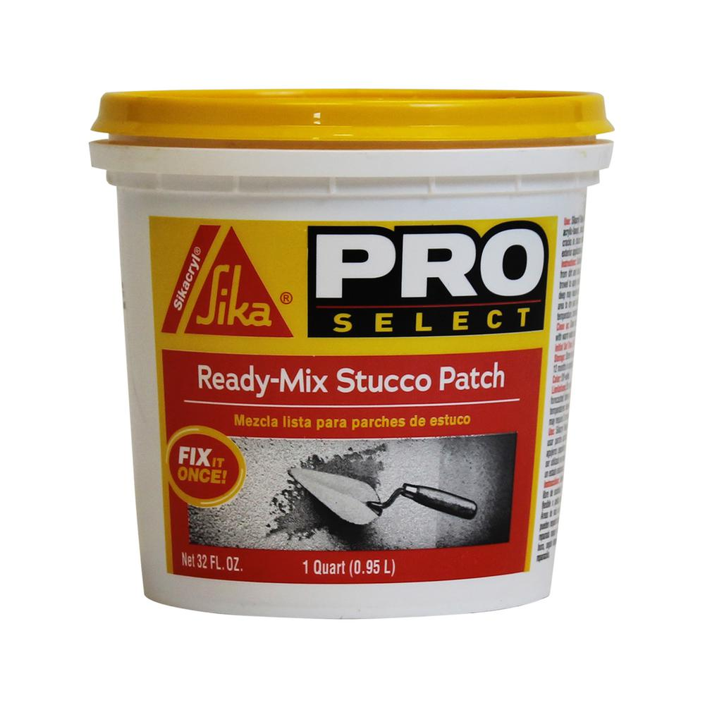 Sika Sika 1 Qt. Ready-Mix Stucco Patch/Repair, Off White/Textured