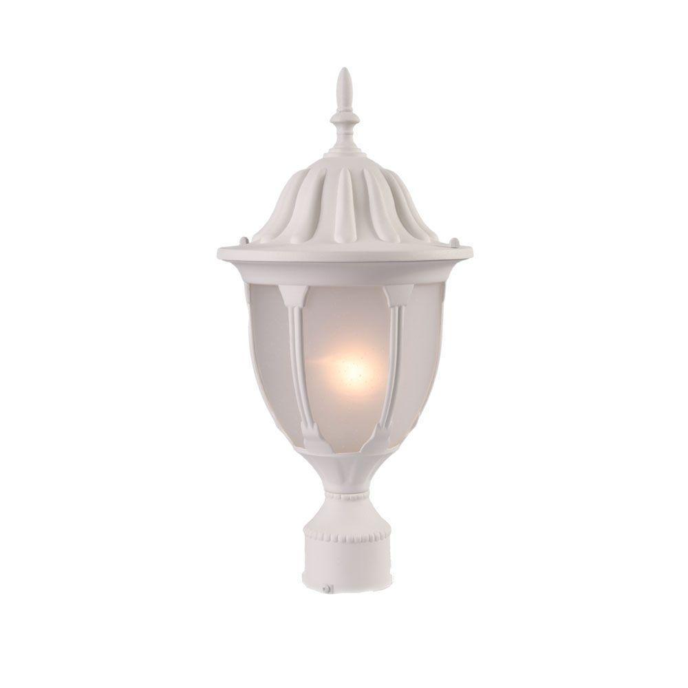 Acclaim Lighting Suffolk 1-Light Textured White Outdoor Post-Mount Fixture