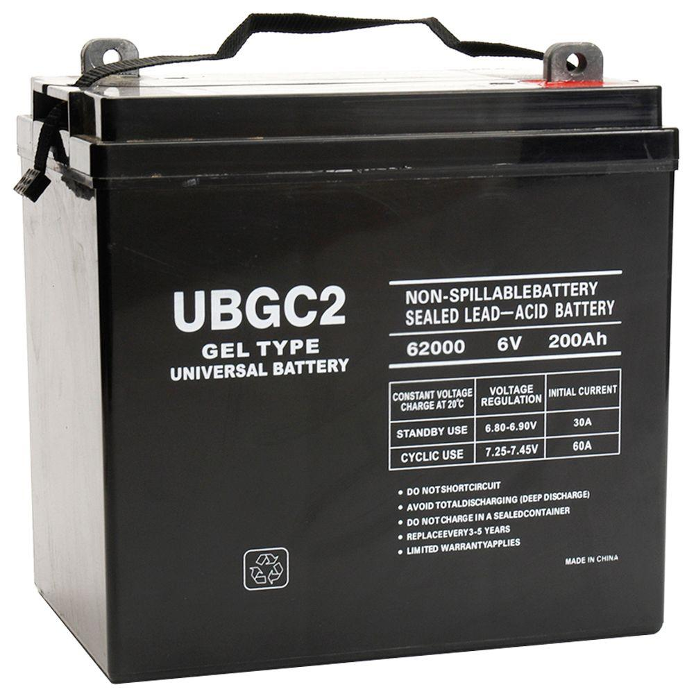 upg sla gel 6 volt 200 ah l5 l post terminal battery ub. Black Bedroom Furniture Sets. Home Design Ideas