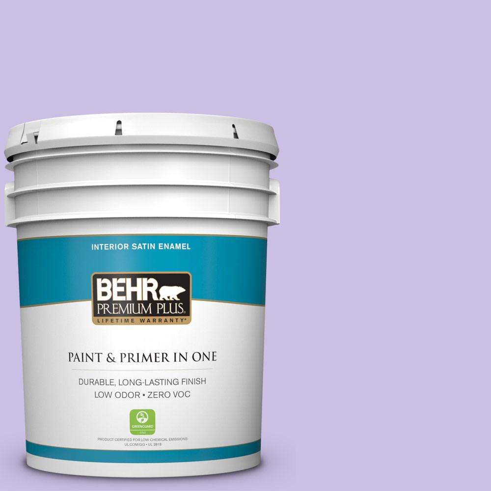 BEHR Premium Plus 5-gal. #P560-3 Party Hat Satin Enamel Interior Paint