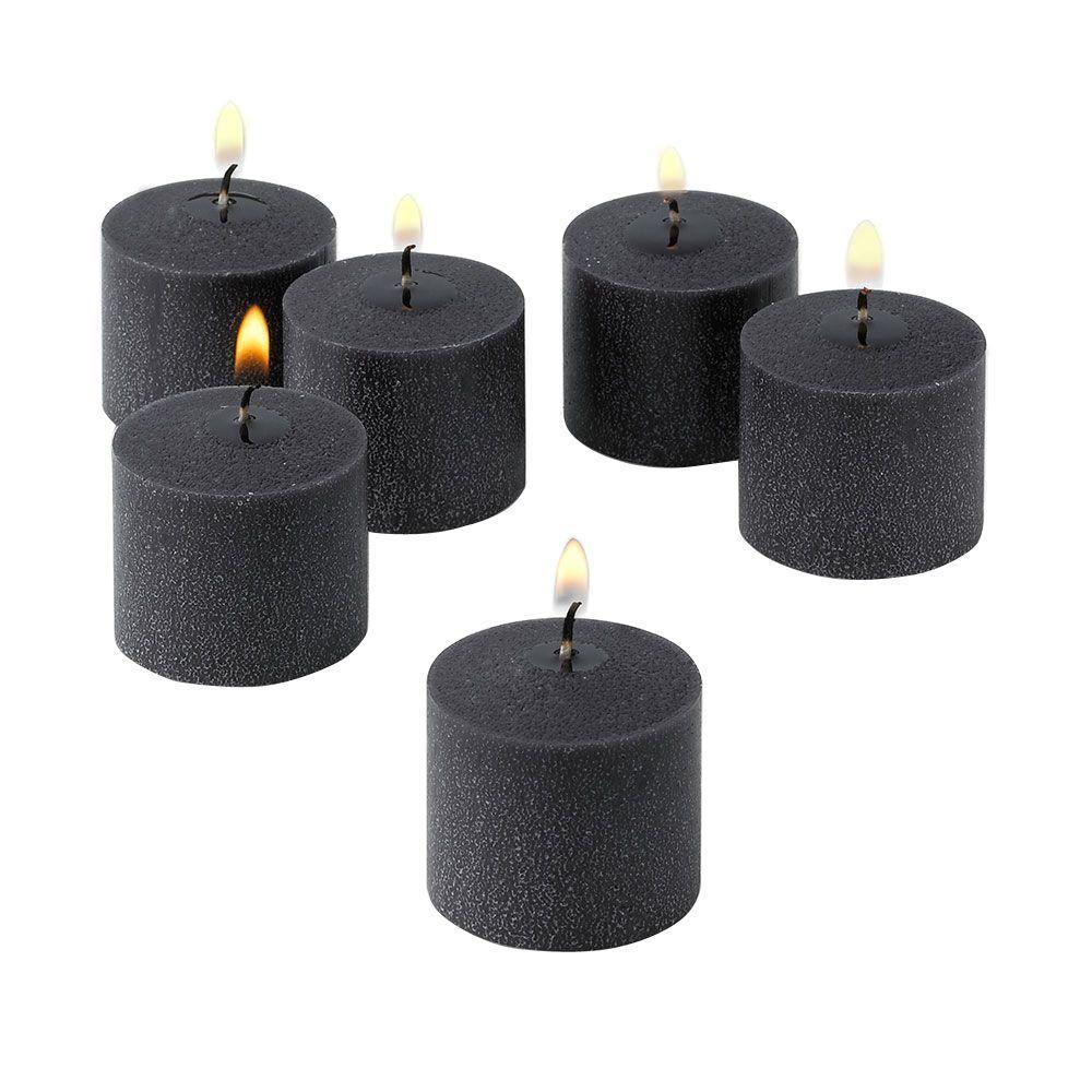 10 Hour Black Unscented Votive Candle (Set of 36)