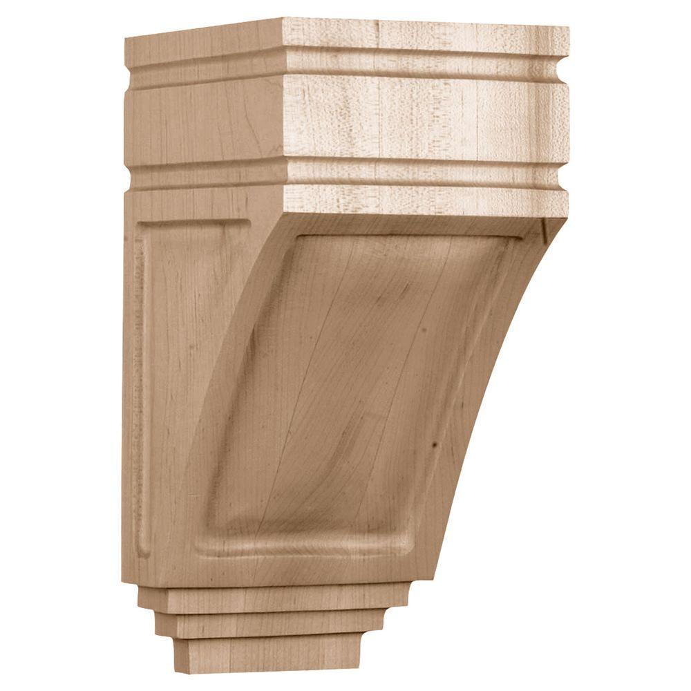 5 in. x 6 in. x 10-1/2 in. Unfinished Wood Red Oak San Juan Corbel