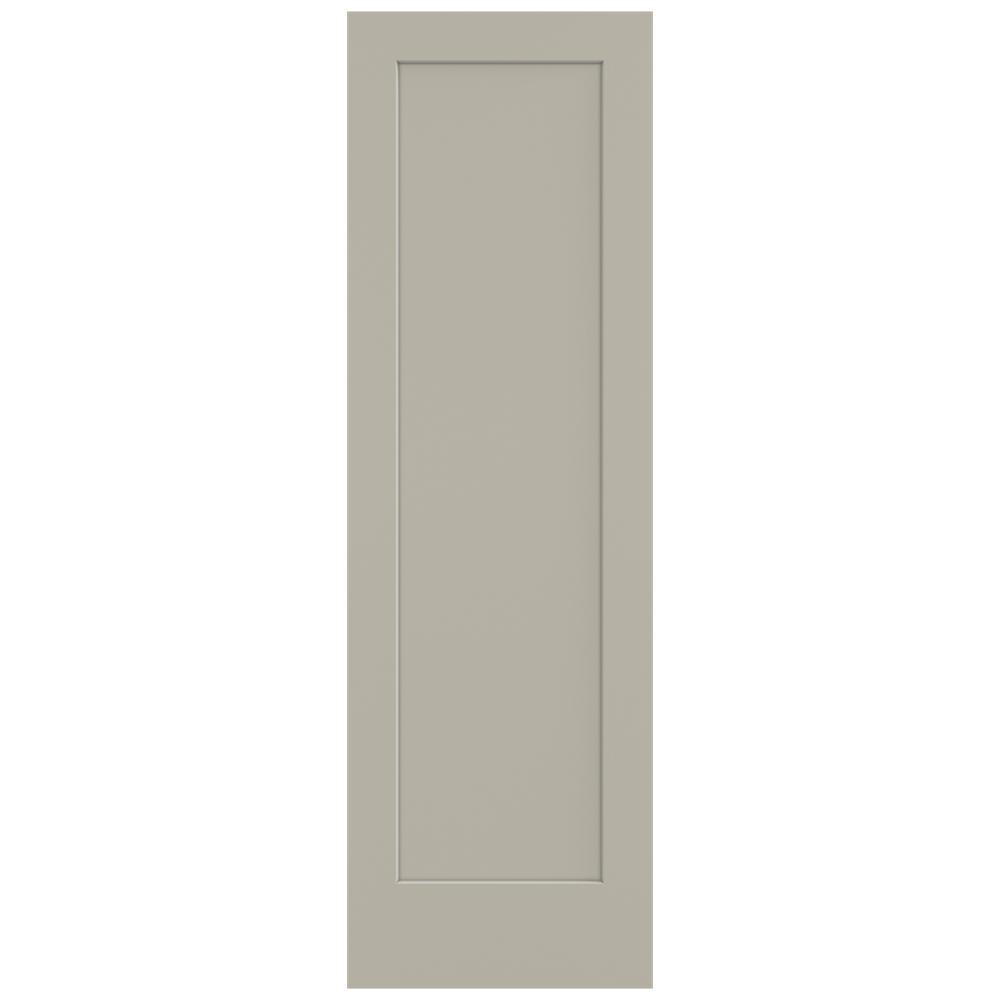 Jeld wen 32 in x 96 in madison desert sand painted for Solid core mdf interior doors