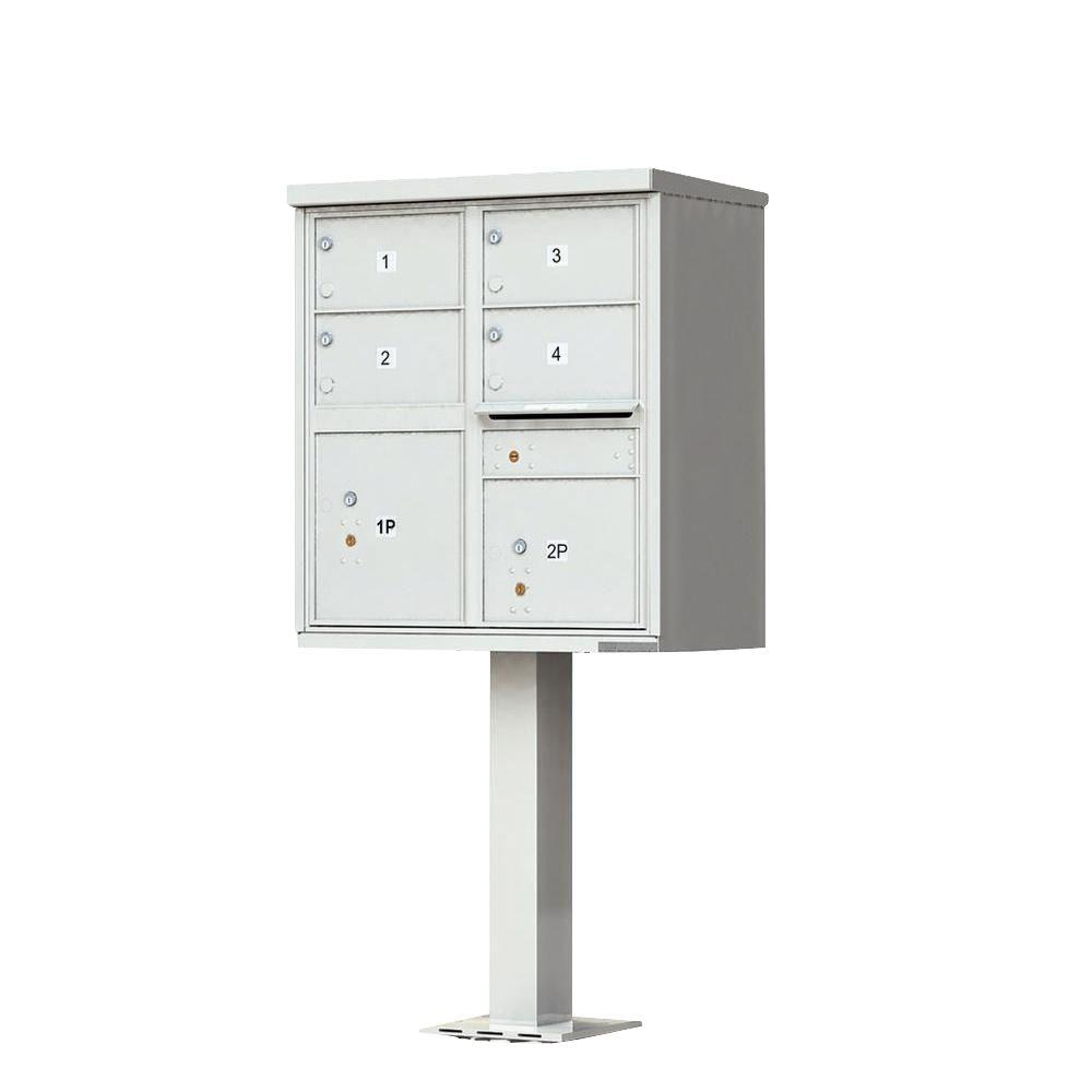 Florence 1570 Series 4 Large Mailboxes, 1 Outgoing Compartment, 2 Parcel Lockers, Vital Cluster Box Unit