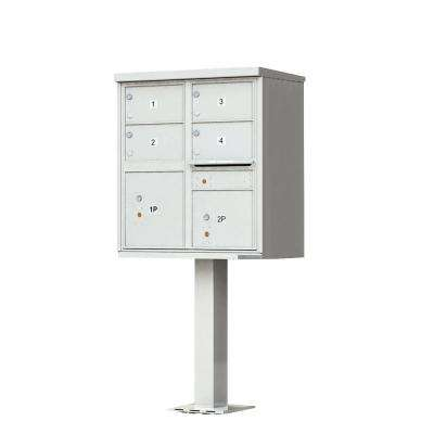 1570 Series 4-Large Mailboxes, 1-Outgoing Compartment, 2-Parcel Lockers, Vital Cluster Box Unit