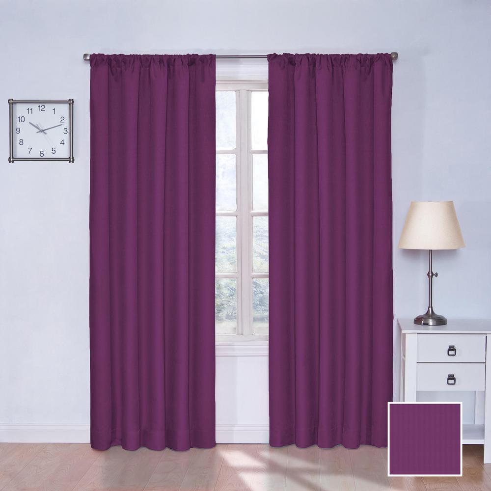 Purple Bedroom Lighting Espresso Bedroom Sets Bedroom Door Curtain Ideas Diy Bedroom Curtain Ideas: Eclipse Kids Microfiber 63 In. L Polyester Curtain In Rich
