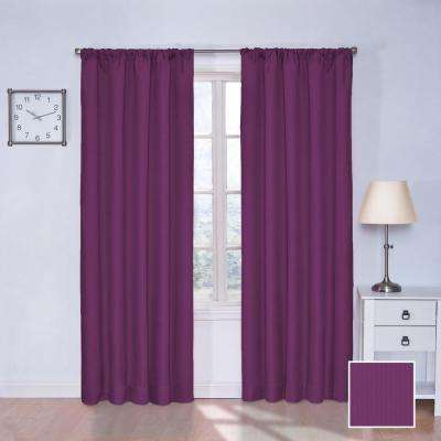 Kids Microfiber 63 in. L Polyester Curtain in Rich Teal