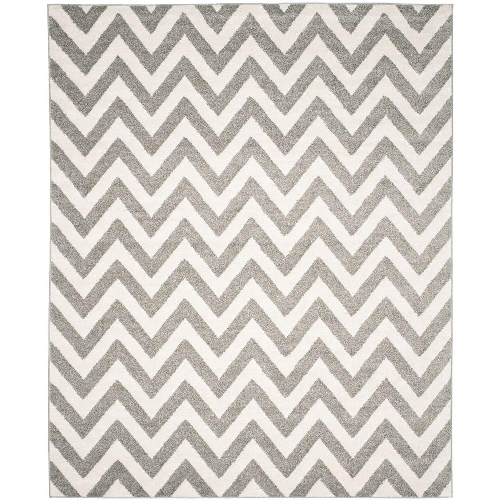 Amherst Dark Gray/Beige 8 ft. x 10 ft. Indoor/Outdoor Area Rug